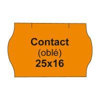 Árcímkék. KAPCSOLAT 25x16 hosszúkás - 1125 címke / tekercs, narancs