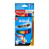 "Színes ceruzák - akvarell MAPED ""COLOR`PEPS"", 12 db + kefe"