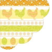 Szalvéta kerek PAW R Easter Look narancssárga/zöld