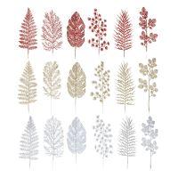 Dekoráció Levelek vegyes színek 30 cm, 3 db készlet