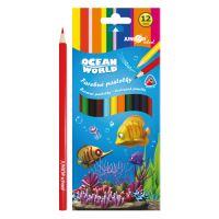 Színesceruza Ocean World háromszögű 12 db