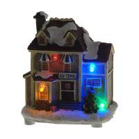 Ház - világító LED 8x8 cm, vegyes/1db