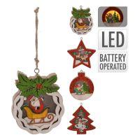 Dekorácia/rôzne tvary - svietiaca LED - teplá biela 10 cm, mix/1ks