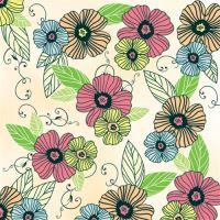 Szalvéta TaT 33X33cm ed dancing flowers