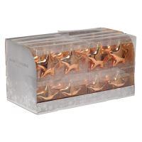 Karácsonyfadísz- PP rézszínű csillagok 10 cm, 2 db készlet