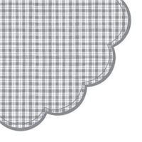 Szalvéta kerek PAW R Chequered Grey
