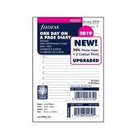Náplň do diára Filofax 2019 Kalendár, vrecková/denná