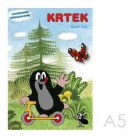 Omaľovánka A5 Akim - Krtko