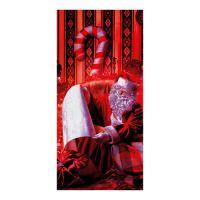 Celofán zacskó - Mikulás  20x40 cm, piros