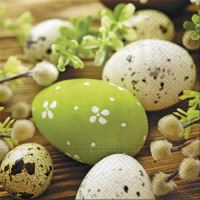 Szalvéta PAW L 33x33cm Eggs Among Catkins